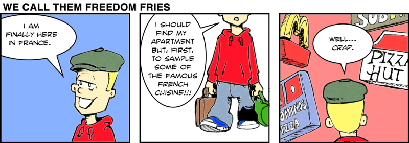 """""""We Call Them Freedom Fries"""" – the comic strip"""